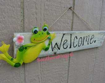 Welcome Sign / Frog Welcome Sign
