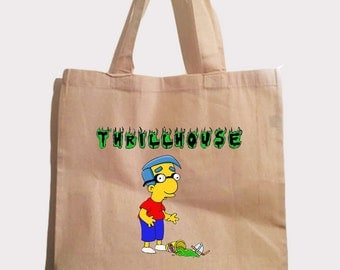 thrillhouse tote bag  spoof