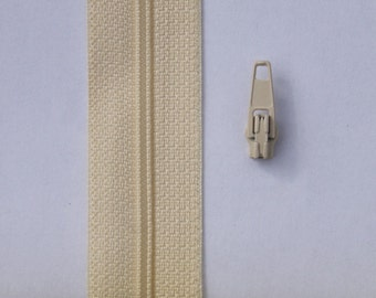 UPHOLSTERY ZIP continuous  chain zipping N3,5 m and 5 sliders ideal for scatter cushions, upholstery in general crafts