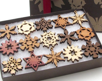 Mini Snowflake Ornaments from Nestled Pines - Gift Box set of 15 . All New Designs