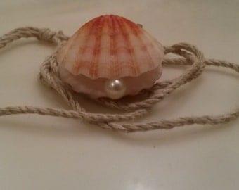 Mermaid Shell Locket with Real Akoya Pearl