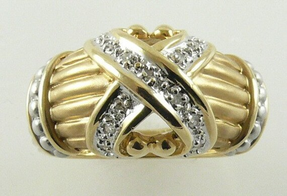 Diamond Ring 0.08ct - 14k Yellow Gold