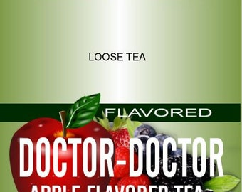 DOCTOR-DOCTOR Apple Flavored Tea. 4 oz makes 30+ cups (8 - 10 oz)