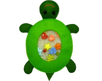 I Spy Bag TURTLE , Eye Spy Bag , Busy Bag , Sensory Toy , Quiet Toy , Finding Toy , Toy Bag , Find It Bag, Sensory Bag  Busy Bag , Quiet Toy