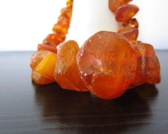 Chunky Raw Amber Necklace
