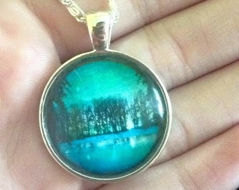 Blueness of trees Necklace