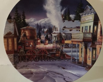 The limited edition of early morning arrival collectors plate