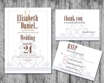 Printable Wedding Invitation, Downloadable Wedding Invitation, DIY Wedding Invitation, Wedding Invitations, Wedding Invitation Templates