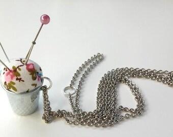 Pendant handmade Pincushion - Pincushion thimble necklace handmade