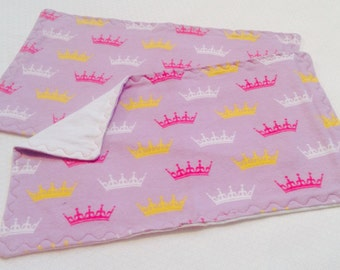 Princess Crown Baby Burp Cloths