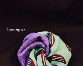 Tourqouise and Purple pocket square