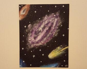 Original Galaxy acyrlic painting on canvas