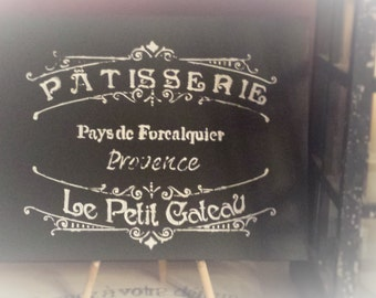 """Vintage style sign """"Patisserie"""" The French Bakery"""
