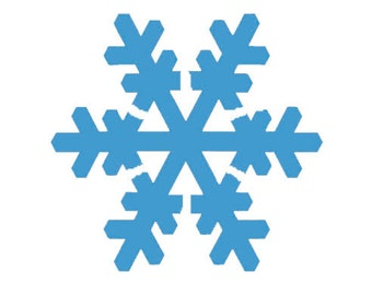 Snowflake Stencil Different Sizes Available and Reg and Commercial Grade Thickness