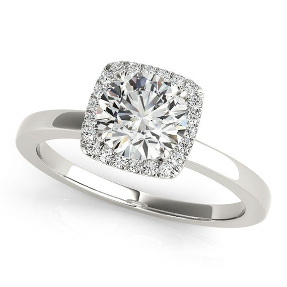 Simple Moissanite RingMinimal Engagement Ring Simple