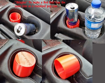 8.4 and 12 oz. - Energy Drink Cup Holder Adapter - Keep Those Fussy Slim Cans in Place - Adapts the Can to the Size of a Standard Can