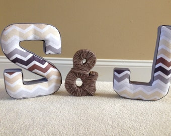 Custom Fabric Covered Letters