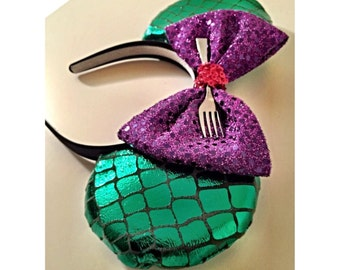 the little mermaid mickey ears, little mermaid ears, ariel minnie ears, ariel ears, ariel ears, ariel, mermaid ears,