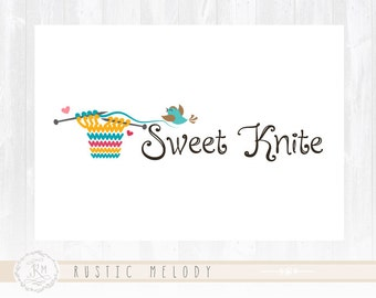Knitting Logo Design Bird Logo Photography Logo  Children Logo Boutique Logo Watermark