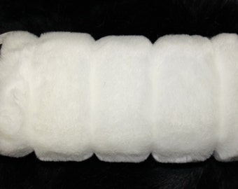 White  FAUX FUR Muff  Hand  Warmer Brand NEW!!