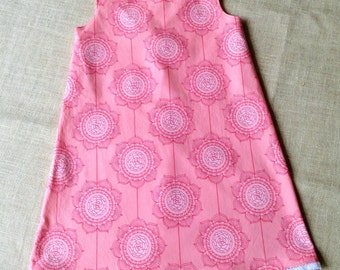 READY TO SHIP, Girls Summer Dress, Pink Dress for Girls, Size 5 only