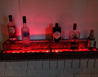 Custom liquor display shelf (3' and 2 Tier)