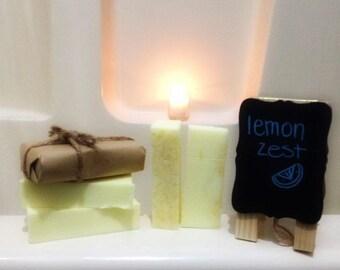 Lemon Zest Soap, Homemade Soap, Handmade Soap, Bar Soap, Scented Soap, Citrus Soap