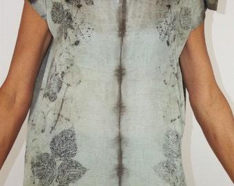 Silk tunic GARDEN POETRY 3