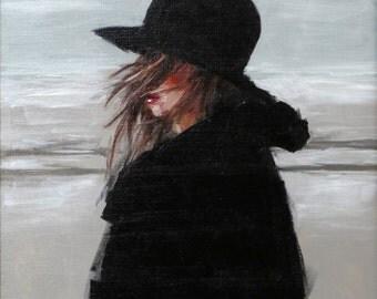 Gray Shores - Original Acrylic Painting by Gabriel Frascella