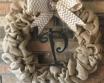 18 inch burlap wreath