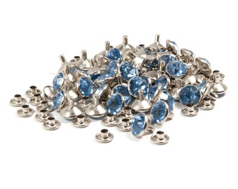 Blue Synthetic Crystal Rivets, 10mm