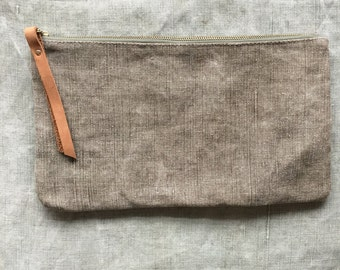 WWII French Linen Clutch