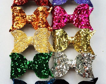 Full Set of Bows - Baby Bows - Rainbow Color Bows