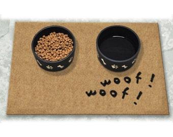 D60760 - 18 x 24 DuraCoir Pet Mat - Woof! Woof! Non-Personalized
