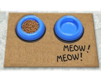 D60749 - 24 x 36 DuraCoir Pet Mat - Meow! Meow! Non-Personalized