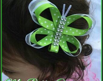 Butterfly ribbon sculpture hair clip