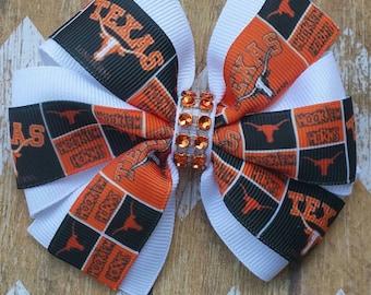 Texas Longhorns 4 inch pinwheel hair bow