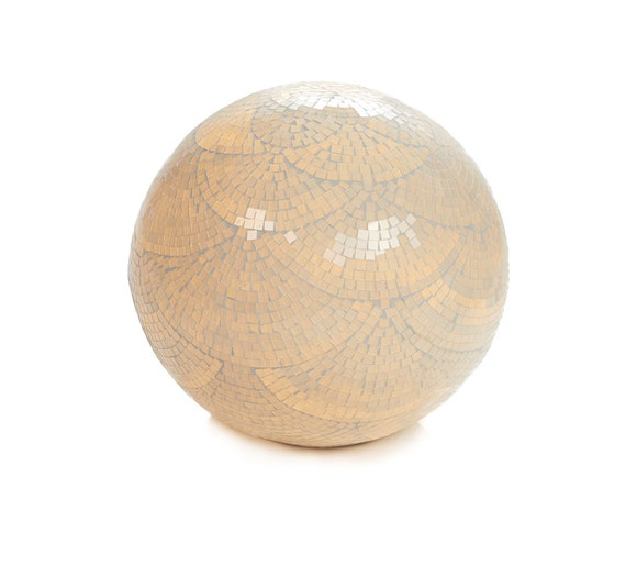 Items similar to mosaic white glass globe lamp for floor for White mosaic floor lamp