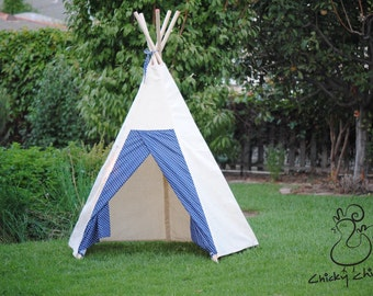 Pretend Play Teepee- custom choice of door flap fabrics!