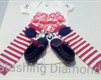 Baby's Onesis ,Shoes and Leg Warmer Set