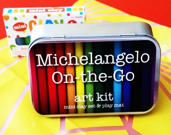 Michelangelo On-the-Go Travel Clay Play Set