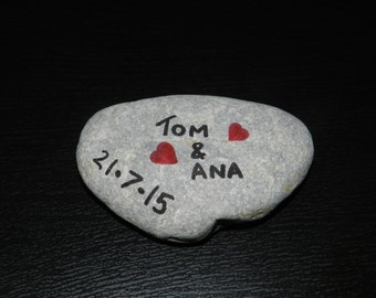 Wedding/Anniversary Personalised Mediterranean Pebble