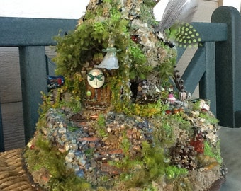 FAIRY COTTAGE - Fairy House - Fairy Habitat - Pixie- Woodland Cottage - Fairy Dwelling - Fantasy - Magical - Dragonfly Manor - Free S/H