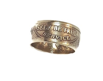 Coin Ring, AA Ring, Sobriety, Recovery, Alcoholics Anonymous, Coin, Serenity Prayer, AA Coin, Coin Rings, Recovery Jewelry, Recovery Gift