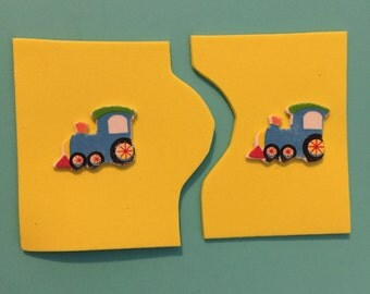 Foam puzzle matching cards- Transportation theme