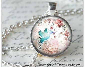 Phoenix Bird Necklace Phoenix jewelry New Beginnings Necklace Yoga pendant necklace Bohemian Jewelry lotus flower necklace 027