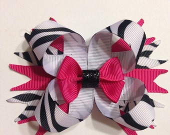 Zebra and Pink Bow