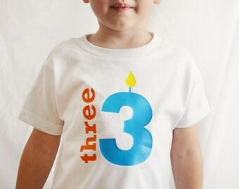 Toddler Boy Birthday 3 Shirt - Third Birthday tshirt - Toddler Birthday t-shirt Three - Three Years Old t shirt - Bday -