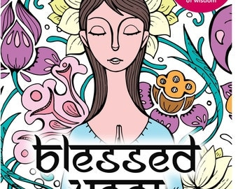 SALE! Blessed Yogi | Colouring Book | Yoga Coloring Book | Yoga Colouring Book | Spiritual Coloring Book | Colouring In Book