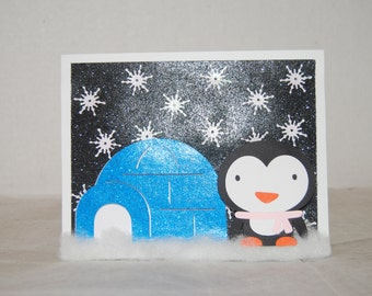 Penguin with Igloo card